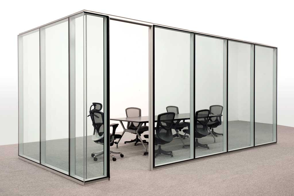 Office Partitions Double Glass Type A