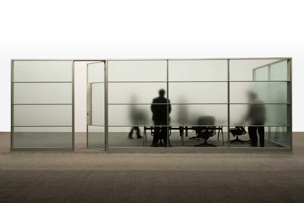 Office Partitions Double Glass Type D