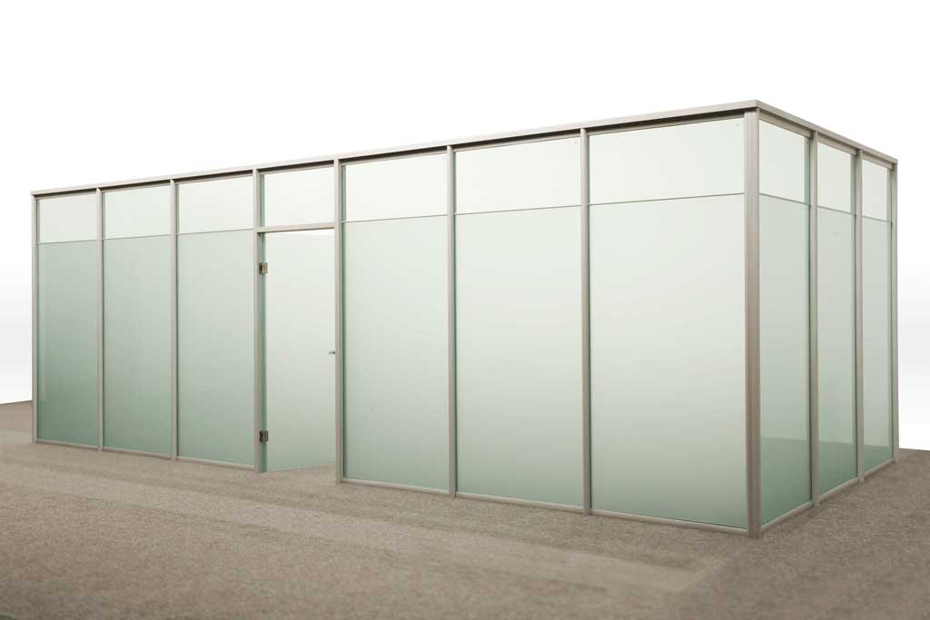 Office Partitions Single Glass Type B